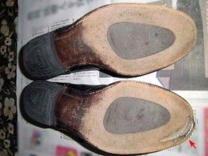 革靴 靴底 ソール 修理