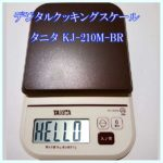 デジタルクッキングスケールで炭水化物ダイエット?!【タニタ KJ-210M】