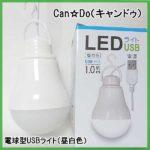 【CAN☆DOキャンドゥ】100均電球型USB-LEDライトvsダイソー製