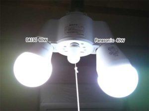 100均 ダイソー LED電球 LED60W 昼白色